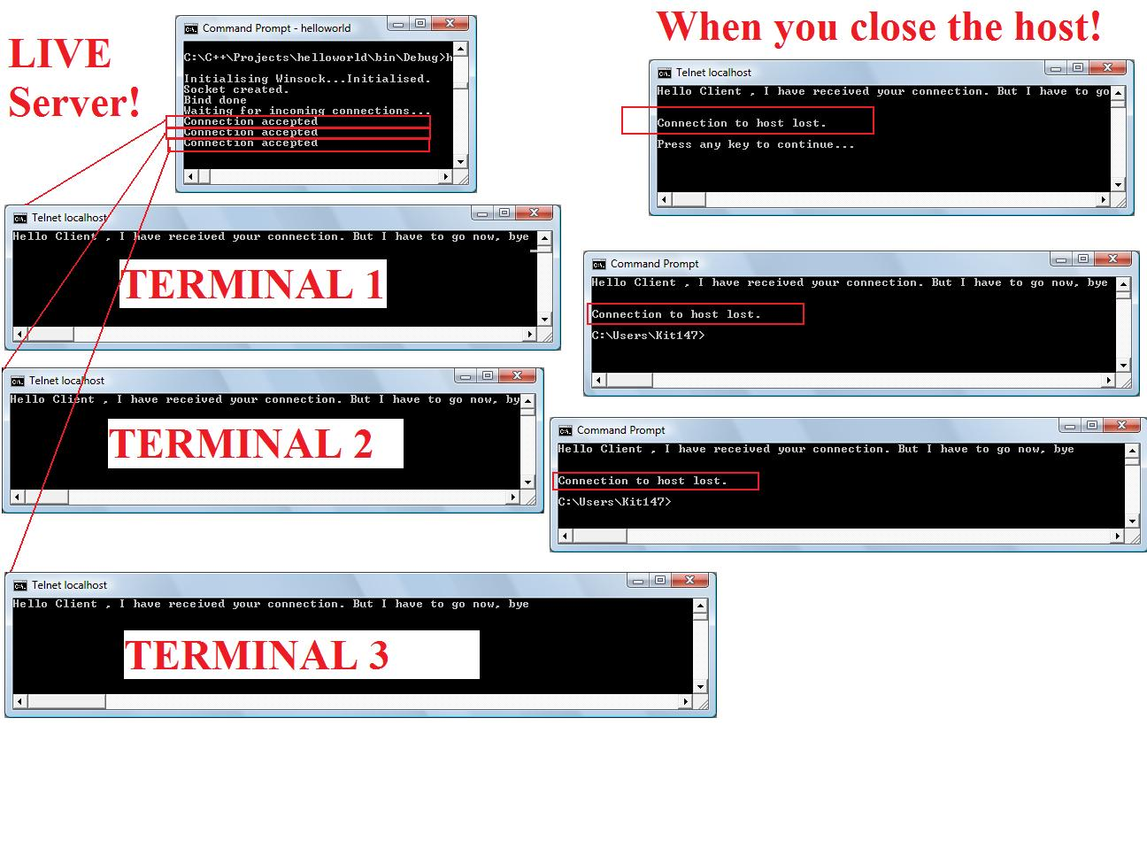 Winsock tutorial – Socket programming in C on windows using